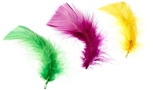 - ZUCKER Feather (TM) - Loose Turkey Plumage Mix Dyed - Mardigras Mix
