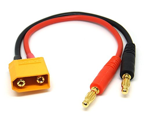 Many Helicopter Quadcopter Airplane Boat Car Controller XT90 to 4.0mm Banana Connector Charger Cable Wire Li-Po Battery Power Supply Charging Lead XT-90 LiPo RC FPV 90 Leads
