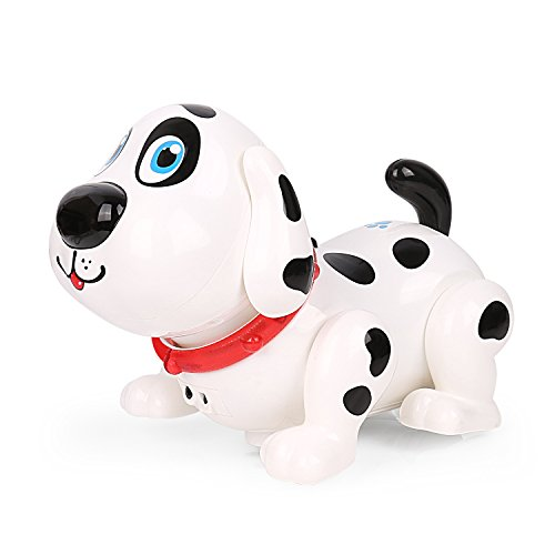 (Electronic Dog, Touch with Chasing, Walking, Dancing, Music, Interactive and Induction Toys for Boys or Girls Gifts (White))