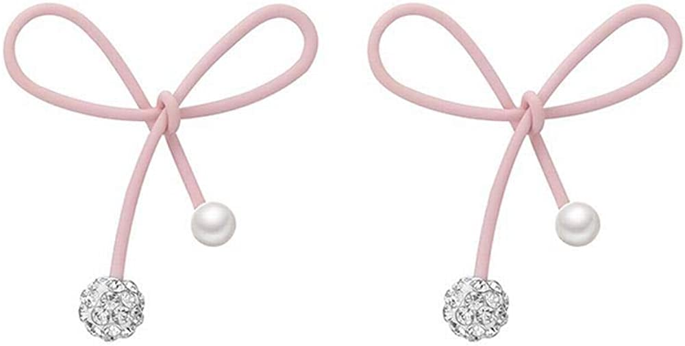 MEEOI exageración de la moda Ear Stud Earrings Ear Hoop 925 de plata esterlina para mujer, con un lazo pequeño y bonito. Pendientes simples de perlas.