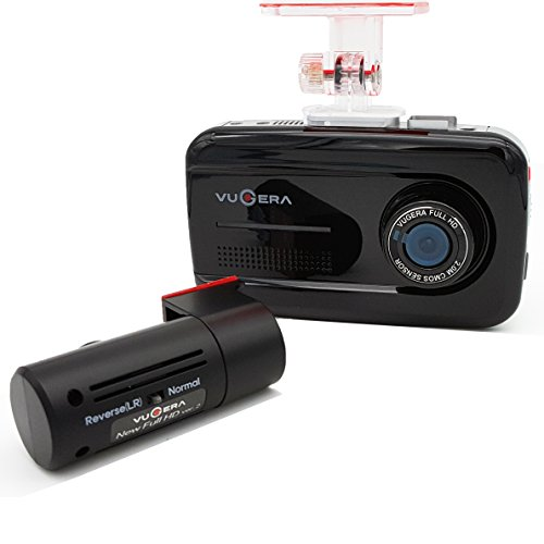 VUGERA VG900V Car Dash Cam with GPS - Dual FHD 1920X 1080P In Car Camera - With Superior Night Vision - Proven Quality & 32G MicroSD Made In Korea