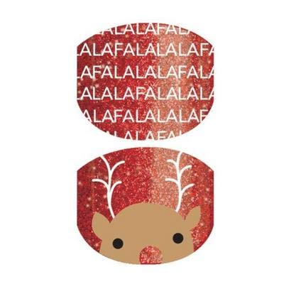 Rockin Rudy Jr - Jamberry Nail Wraps - Full Sheet - Kids Size - Christmas Holiday Exclusive 2018 (Jamberry Christmas 2019)