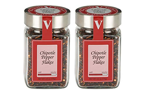 Chipotle Pepper Flakes 2 Pack - Adds smoky heat to recipes.