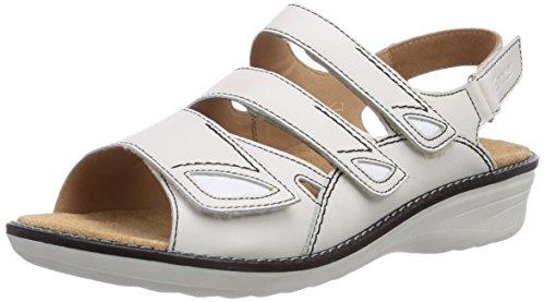 Ganter HERA, Weite H - sandalias abiertas de cuero mujer gris - Grau (weiss 0200)