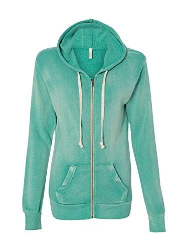 Angels Knit Jacket - Weatherproof W2350 Ladies Blended Angel Sanded Hooded Fleece - Jade - M