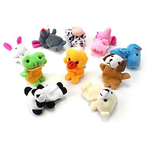 chinatera Chinese Zodiac 12 Animals Finger Puppets Baby Kids Child Educational Soft Doll Plush Toy