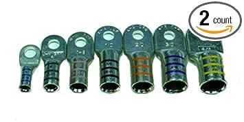 Amazon.com : FTZ Heavy Duty Tinned Marine Battery Cable Lug, 2/0 ...