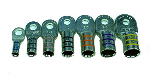 Heavy Duty Tinned Marine Battery Cable Lug by FTZ - 4 Gau...