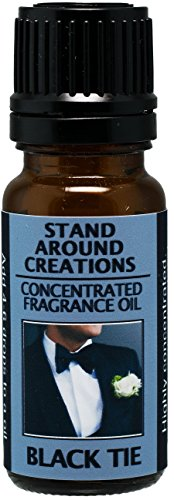 Premium Concentrated Fragrance Oil - Scent - Black Tie: Sophisticated notes of leather w/warm woods, patchouli, musk. Infused w/essential oils (.33 fl.oz.)