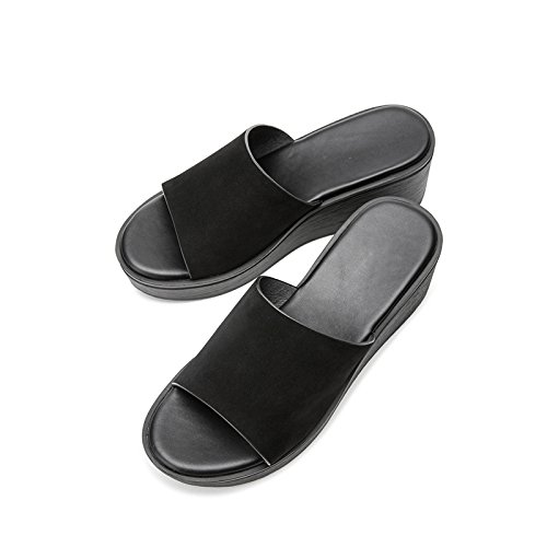 DHG fresche piccole estive da con da sandali donna 39 H55W8219 aperti pendenza Nero Ciabatte casual rt1CqnXr