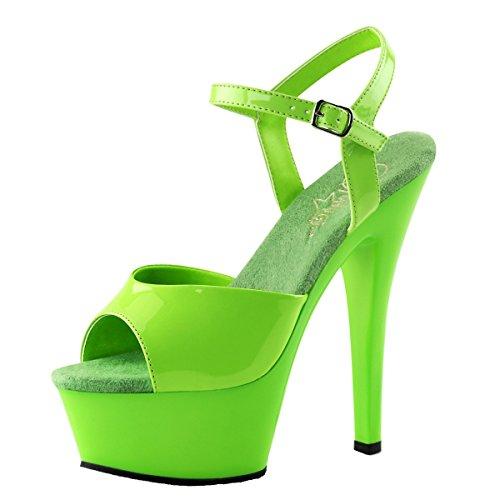 Heels-Perfect - Sandalias de vestir de Material Sintético para mujer Verde - verde (verde)
