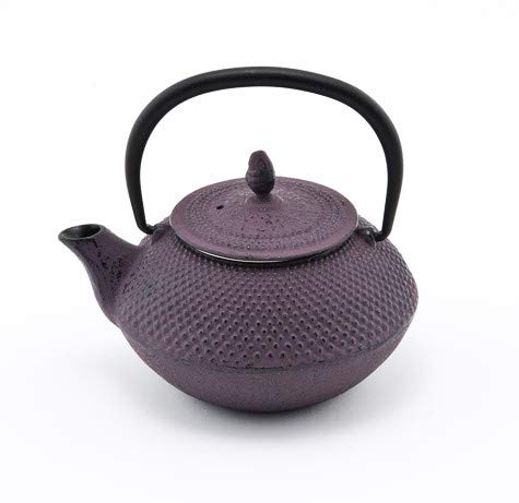 Japanese Tetsubin Purple Hobnail Cast Iron Teapot 14oz with Stainless Steel Infuser