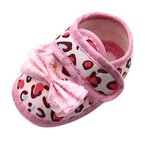 LONGDAY Baby Girls Sandals Cotton Soft Sole Mary Jane Flats Bowknot Non-Slip ler First Walkers Princess Dress Shoes -