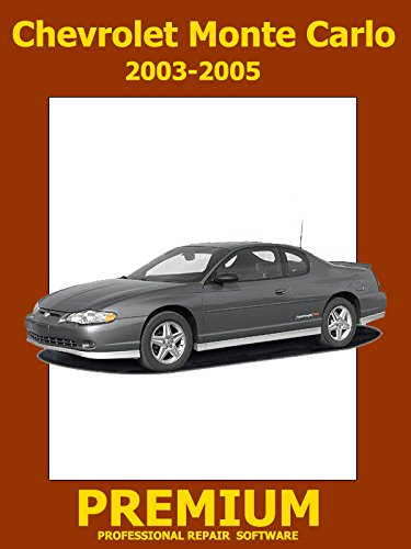 Chevrolet Monte Carlo Repair Software (DVD) 2003 2004 2005