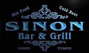 u41648-b SINON Family Name Bar & Grill Home Decor Neon Light Sign