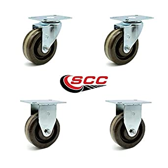 Service Caster 4 X 1 5 Brown High Temperature Phenolic Wheels Set Of 2 Swivel Rigid Com Scientific
