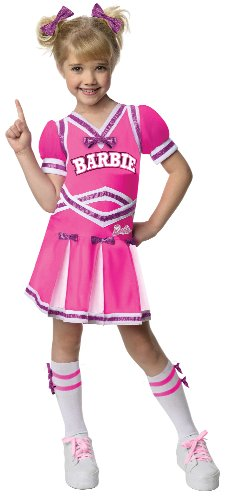 Girls Barbie Costumes (Barbie Cheerleader Costume, Small)