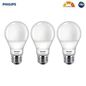 Philips LED 464933 60W Equivalent SceneSwitch Brightness with Warm Glow A19 LED Light Bulb, Frustration Free 3 Pack, Soft White Piece