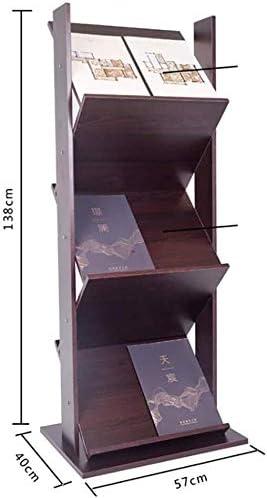 HYL Cajoneras Mueble Archivador Revistero Soporte de exhibición Oficina Periódico Marco soporte multiuso de oficina de información de promoción de suelo de madera Diario (Size : 57 * 40 * 138cm): Amazon.es: Hogar