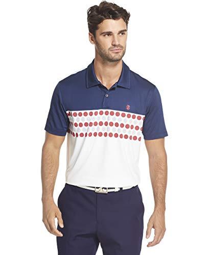 (IZOD Men's Golf Fashion Short Sleeve Polo Shirt, Club Blue, Medium)