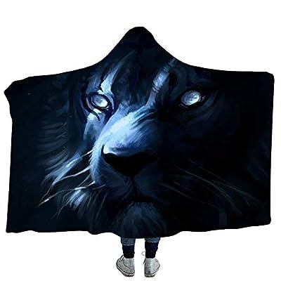 YJZ Fleece Blankets 3D Art Hooded Blanket Soft Sherpa Cozy Bathrobes Cloak Bath Towel for Adult Kids