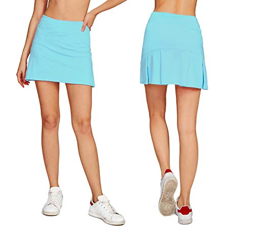 - Women's Casual Pleated Tennis Golf Skirt with Underneath Shorts Running Skorts l_bu s
