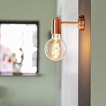 Qazqa Design Moderne Applique Murale Facil Cuivre Acier Cuivre Cylindre Luminaire Lumiere Eclairage Interieur Salon Cuisine