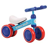 BLUE ISLAND Baby Balance Bikes Scooter Toddler Walker Infant Scooter No Foot Pedal Driving Bike Gift for Child Four Wheels First Bike – Boys Girls