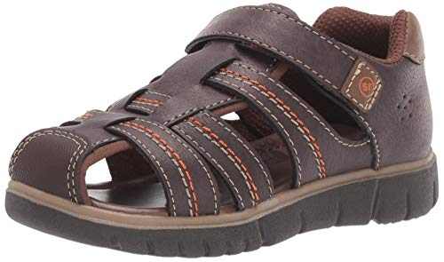Stride Rite baby-boys Wallace Sandal , brown 10 M US Toddler