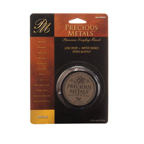 Faux Gold Leaf - Precious Metal 45503 1.75-Ounce Gold Leaf Metals Premium Leafing Finish, 1-Pack