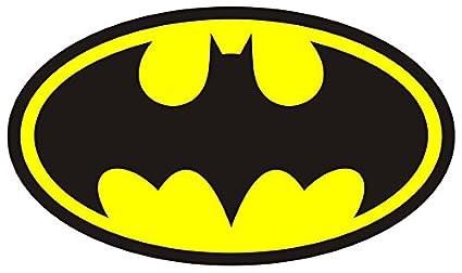 Logo de Batman Símbolo V105 - Adhesivo para pared tamaño de póster de arte de la pared de autoadhesivo 1000 mm de alto x 600 mm de ancho (Tamaño Grande): ...