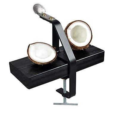 D&V ENGINEERING Safe & Sturdy Coconut Scraper/Grater,Matte Black 7