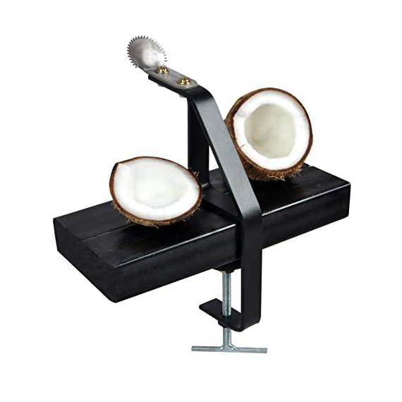 D&V ENGINEERING Safe & Sturdy Coconut Scraper/Grater,Matte Black 1