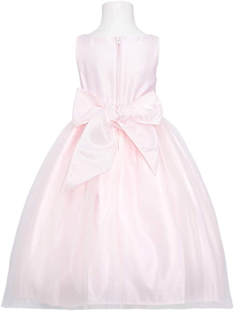 Sweet Kids Girls 8 Pink Ivory Mesh Lace Easter Flower Girl Dress