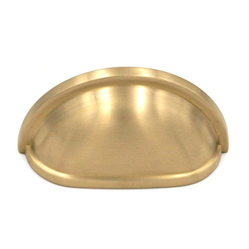 Belwith Keeler Power & Beauty Cabinet Cup Pull K43-04 Solid Brass 3''cc Satin Brass by Keeler