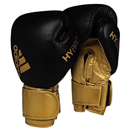 adidas Hybrid 300 Secure Fit Bag Gloves, Black/Gold, Large