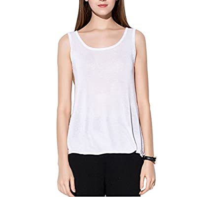 Women's Loose Fit Flowy Tank Top Relaxed Workout Jersey Sleeveless Tunic Shirt