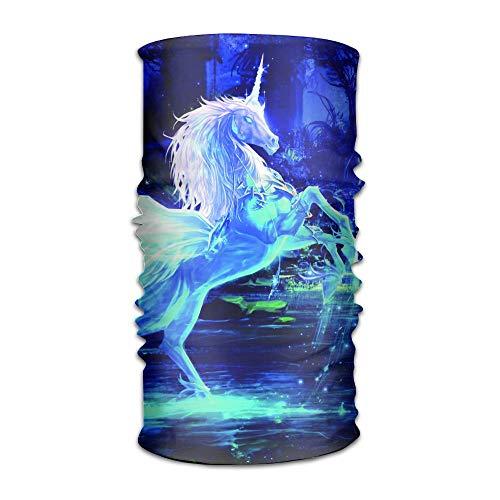Neon Blue Sky Horse Unicorn Original Headband with Multi-Function Sports and Leisure Headwear UV Protection Sports Neck, Sweat-Absorbent Microfiber Running, Yoga, Hiking
