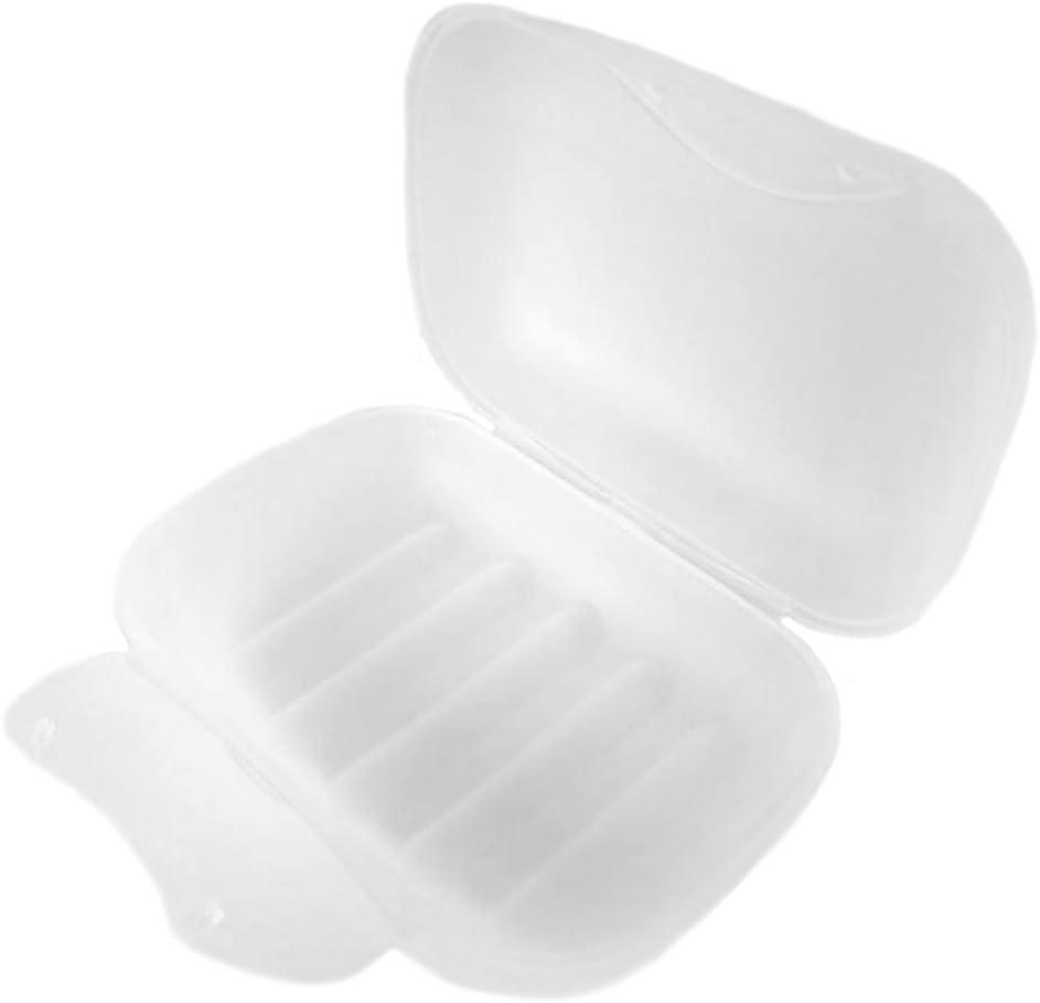 4.72/* 3,15/* 1,65/pulgadas De octubre de elfo pl/ástico esmerilado 2/parte jabonera con tapa para ducha estuche de viaje caja