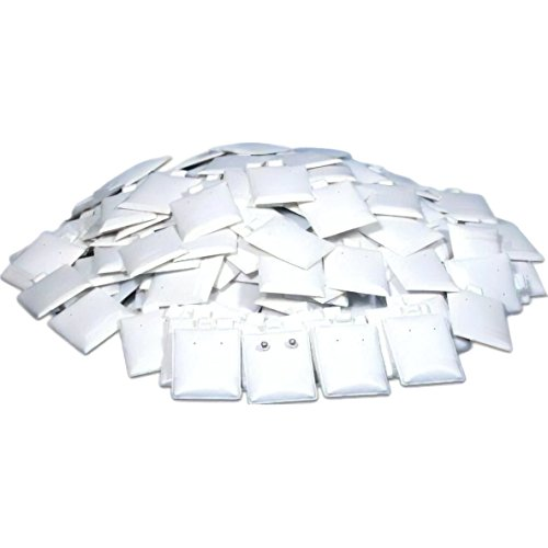 (FindingKing 200 Earring Puff Display Pads White Stud Post)