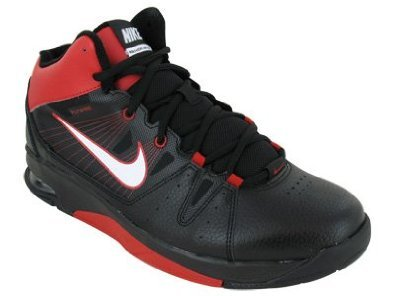 new product bb18a 24f6f Men s Nike Air Flight Jab Step Basketball Shoe Black White Red Size ...