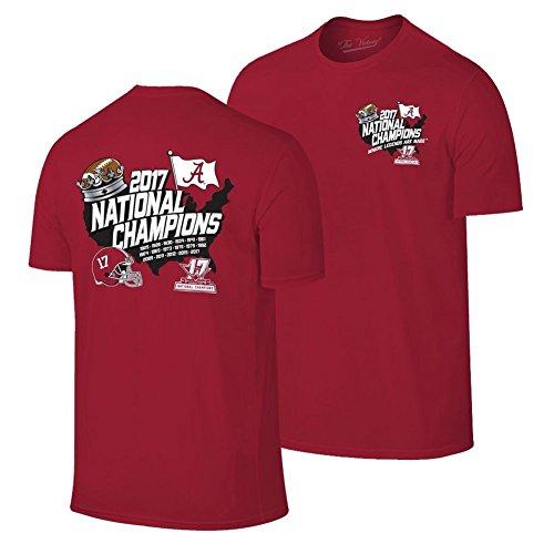 National Champions Tee (Alabama Crimson Tide National Champions Tshirt Country (2018 National Championship) - M)