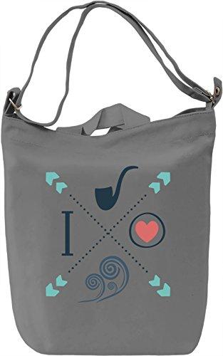 I love Borsa Giornaliera Canvas Canvas Day Bag  100% Premium Cotton Canvas  DTG Printing 