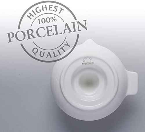WM Bartleet & Sons 1750 T360 Exprimidor clásico de Porcelana Tradicional de cítricos 16x14cm-blanco