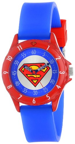 Superman Kids' SUP9010 Watch with Blue Rubber Band ()