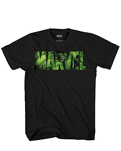 Marvel Logo Hulk Avengers Super Hero Adult Men's Graphic Tee T-Shirt Apparel