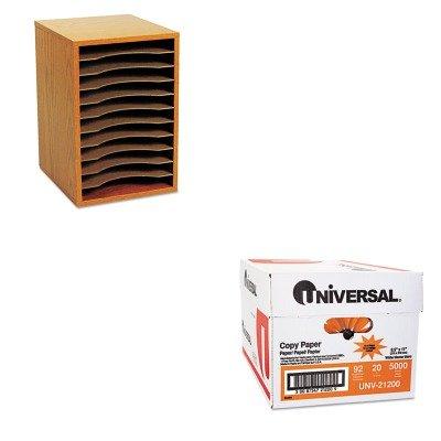 KITSAF9419MOUNV21200 - Value Kit - Safco Wood Vertical Desktop Sorter (SAF9419MO) and Universal Copy Paper (UNV21200)