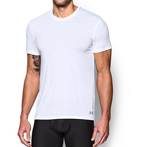 Under Armour Men's Core Crew Undershirt - 2-Pack, White/White, X-Large