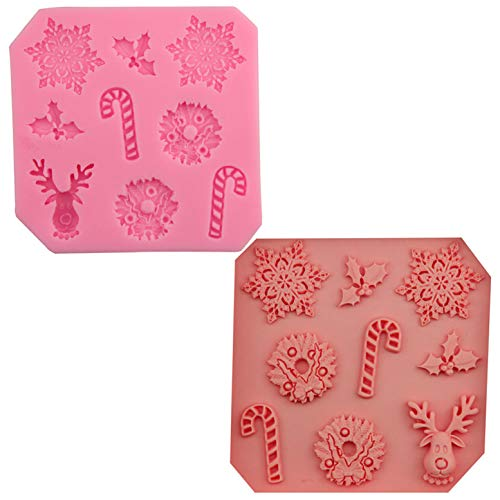 FantasyDay Christmas Snowflakes Candy Stick Silicone Cake Mold Chocolate Sugarcraft Decorating Fondant Fimo Tool for Your Soap, Mini Teacake, Fondant, Candy, Ice Cube, Candy, Cookie, Gummy and More ()