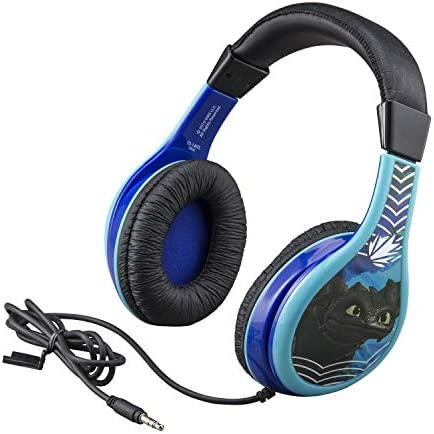 How to Train Your Dragon Headphones for Kids with Built in Volume Limiting Feature for Kid Friendly Safe Listening